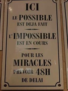 le possible, l'impossible, les miracles Dope Quotes, Words Quotes, Funny Quotes, Sayings, Ask Believe Receive, Positiv Quotes, Home Decoracion, French Quotes, Positive Attitude