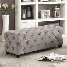Christopher Knight Home Piper Tufted Velvet Fabric Square Ottoman Bench | Overstock.com Shopping - The Best Deals on Ottomans Tufted Ottoman, Leather Ottoman, Ottoman Bench, Swivel Armchair, Comfy Bedroom, Bedroom Decor, Living Room Trends, Modern Bench, Condo Living