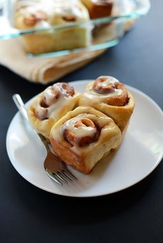 EASY 7 Ingredient Cinnamon Rolls | minimalistbaker.com