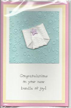 Handmade Greeting Card  Baby  Embellished & by JoniqueCardsAndMore, $5.00