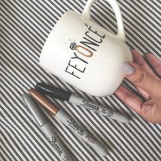 DIY: All you need is a sharpie and a mug for a cute engagement announcement!