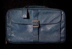 Vintage Suitcase Baby Blue Leather Samsonite by CheyenneKansas, $30.00