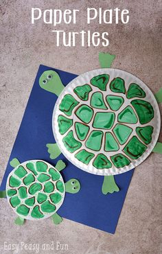 Paper Plate Turtle Craft - easy and cute kid craft!