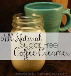 coffee creamer - Use something sugarfree instead of agave - splenda, truvia, etc.