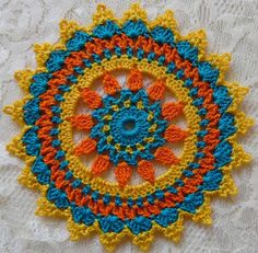 PDF Crochet Pattern- Mini Mandala Doilies different designs) - Reyna Rojas Martinez - PDF Crochet Pattern- Mini Mandala Doilies different designs) PDF Crochet Pattern Mini Mandala Doilies 12 different Mini Mandala, Motif Mandala Crochet, Crochet Motifs, Thread Crochet, Crochet Doilies, Crochet Flowers, Crochet Stitches, Crochet Hooks, Free Crochet