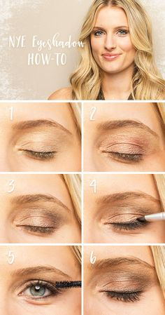 """New Year's Eve calls for extra-special makeup. Follow our steps for a gorgeous, shimmery holiday party beauty look. Start with """"gilded"""" on the lids, then follow with """"rose gold"""" and """"graphite."""" Brush """"onyx"""" on the lash line. Finish with theBalm mascara. Featured product includes: LORAC PRO metal eye shadow palette in rose gold and theBalm what's your type body builder mascara. Get gorgeous with Kohl's."""