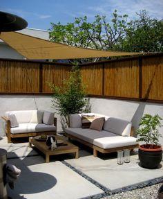 terrassenüberdachung feuerstelle gartenmöbel sonnensegel2 ... - Outdoor Patio Design Ideen