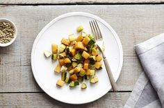 Cantaloupe Cucumber Salad with Basil and Feta Recipe on Food52 recipe on Food52