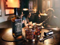 Stuart Miller for Ballantine's Hard Fired Blended Scotch Whiskey // Drinks Photo… Whiskey Drinks, Scotch Whiskey, Bar Drinks, Whiskey Bottle, Beverage, Jack Daniels, Strawberry Banana Milkshake, Bar Shots, Jack Daniel's Tennessee Whiskey