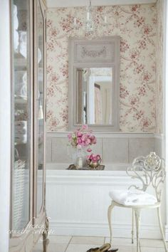 French Country cottage restroom