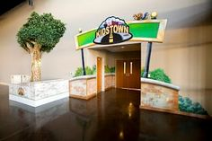 Worlds of Wow - this is the Kids Town entrance at Lighthouse Christian Fellowship in Prosper, TX.