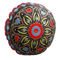Starburst Design Round Floor Pillow (India) | Overstock™ Shopping - The Best Prices on Throw Pillows & Covers