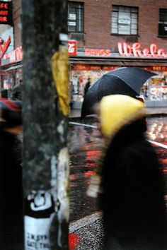 Saul Leiter's images play with time in a very complicated way, which is something that I have been looking at over the past semester.