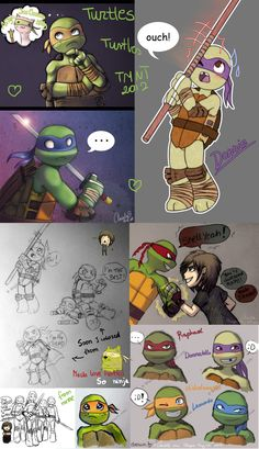 TMNT 2012 doodles by Magic-Ray.deviantart.com on @deviantART