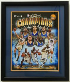 Stephen Curry & Golden State Warriors Framed 16x20 2014-15 NBA Champions Photo