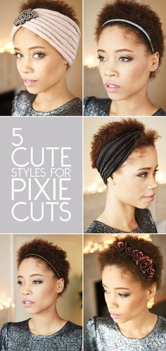 Styles For Pixie Cuts | 15 Foolproof Ways Any Girl Can Pull Off Hair Accessories - Naiya