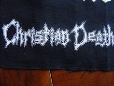 CHRISTIAN DEATH logo patch goth gothic punk Free Shipping