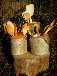 Birch shrink pots - Sharif Adams