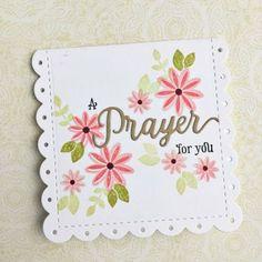 Papertrey Ink - Inspired: Prayer Die: Papertrey Ink Clear Stamps Dies Paper Ink Kits Ribbon