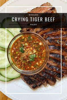 Crying Tiger Beef Paleo) - a dash of dolly - Food: Veggie tables Paleo Recipes, Asian Recipes, Cooking Recipes, Ethnic Recipes, Grill Recipes, Paleo Whole 30, Whole 30 Recipes, Tiger Cry Beef Recipe, Healthy Eating Tips