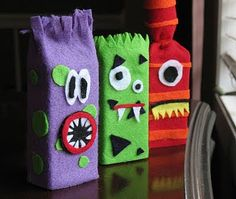 Pin for Later: More Smiles Than Scares: 17 Cute Halloween Decorations For Kids Juice Box Monsters