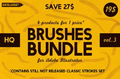 Brushes Bundle 3 by Guerillacraft by Guerillacraft on @creativemarket