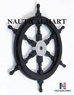 NauticalMart Ship Wheel Nautical Pirate Playhouse Decor Black: Amazon.it: Giardino e giardinaggio