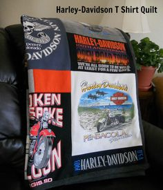 Harley-Davidson T Shirt Quilt. by MossReCreations