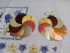 Pendientes - Capchulas. Bisuteria con capsulas de nespresso recicladas