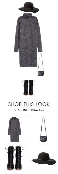 """""""///"""" by mia-v1 ❤ liked on Polyvore featuring H&M, Gianvito Rossi, Charlotte Russe and longsleevedress"""