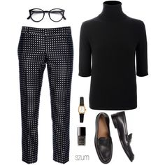 A fashion look from December 2013 featuring cashmere sweater, Dsquared2 and black shoes. Browse and shop related looks.
