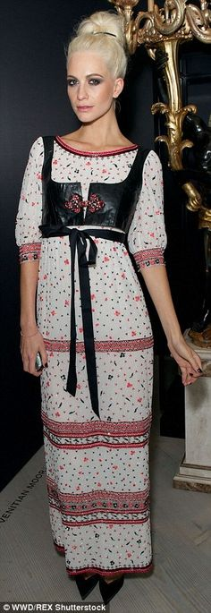 Experimental edge: Poppy Delevingne rebelled against the French fashion house's signature ...