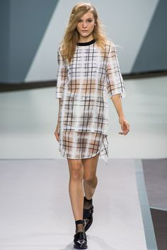 3.1 Phillip Lim Ready to Wear Spring 2013 - I love the pattern, colors, and sheerness!