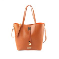 bcf55edfa57bdd Suzy Levian Saffiano Faux Leather Tall Tote Bag - Free Shipping Today -  Overstock.com
