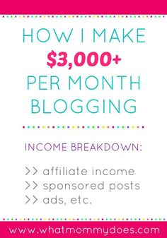 How much money can you make money blogging? Here's the WhatMommyDoes.com July 2015 blog Income Report. It's inspiring to know some people earn extra money for their families by blogging and gives you an idea of what is possible. It includes thoughts on the income breakdown - passive vs active earnings and what portion of income comes from affiliate advertising, sponsored posts, and advertising.