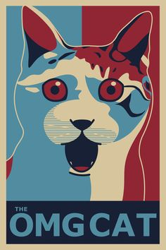 ✩ The OMG Cat Poster Art Print by maiconmcn | Society6