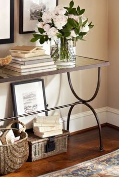 like this table, It might be nice to have one by the wall next to the entry door to have a place to drop off our keys.