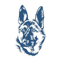 Silhouette Cameo Vinyl, Animal Silhouette, German Shepherd Tattoo, Line Art Images, Vector Art, Vector Clipart, Schaefer, Drawing Projects, Dog Signs