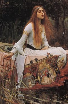 Lady of Shallot  - j w waterhouse paintings - Google Search