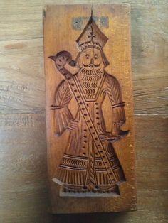 oude Sinterklaas speculaasplank - Alte St Nikolaus spekulatiusbrett - old St Nicholas cookie mold