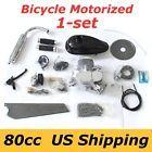 80cc Bike Bicycle Motorized 2 Stroke Cycle Silver Motor Chrome Engine Kit