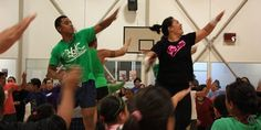 Tenga Schwalger-Teura is a popular Zumba teacher at Otahuhu Recreation & Youth Centre. The local community fill the stadium weekly on Monday nights for the popular group fitness class.