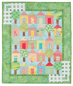 """It Takes a Village; 32 1/2"""" x 38 1/2"""", designed and pieced by Darra, machine quilted by Chris Porter"""