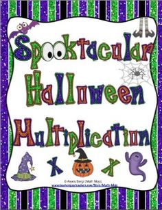 "Spooktacular Halloween Multiplication - Your students will have a blast with these ""spooktacular"" Halloween multiplication games! $ fourth grade, spooktacular halloween, multiplication games"