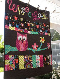Jedi Craft Girl: owl quilt picture only