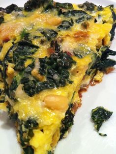Pancetta, Kale, and Parmesan Frittata -- this egg dish is easy and so delicious!