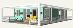 Bauhu modular container homes and offices 6 x 9.6 m