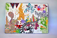 Cuadros abstractos by Mercedes Bazan, via Behance