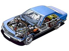 1981-1985 Mercedes-Benz S-Klasse Coupe (C126) - Illustrator unknown