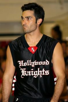 Grumpy cat on court :)... Tyler Hoechlin